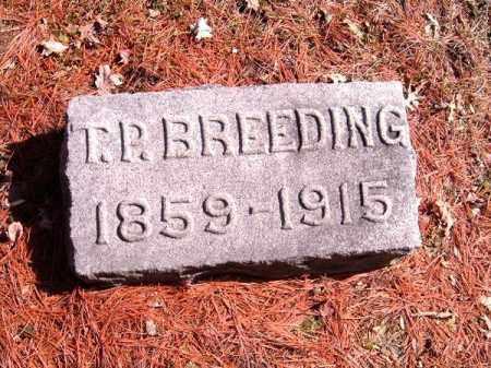 BREEDING, T P - Clermont County, Ohio | T P BREEDING - Ohio Gravestone Photos