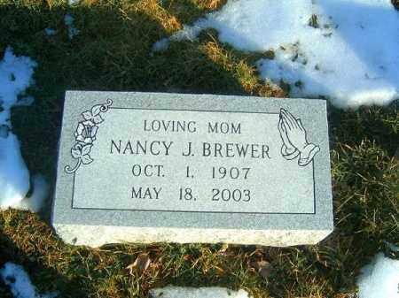 BREWER, NANCY J - Clermont County, Ohio | NANCY J BREWER - Ohio Gravestone Photos