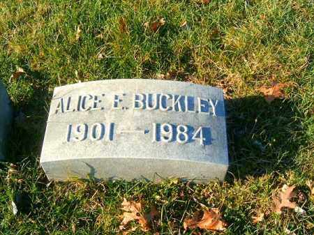BUCKLEY, ALICE  E - Clermont County, Ohio | ALICE  E BUCKLEY - Ohio Gravestone Photos