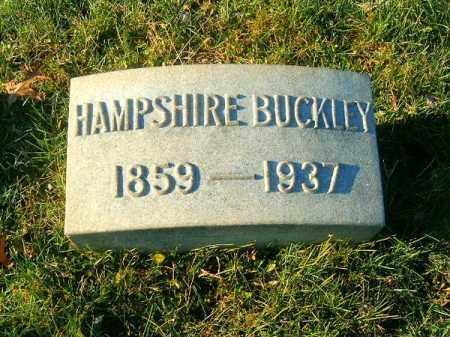 BUCKLEY, HAMPSHIRE - Clermont County, Ohio   HAMPSHIRE BUCKLEY - Ohio Gravestone Photos