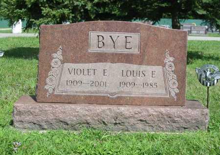 BYE, VIOLET ELEANOR - Clermont County, Ohio   VIOLET ELEANOR BYE - Ohio Gravestone Photos