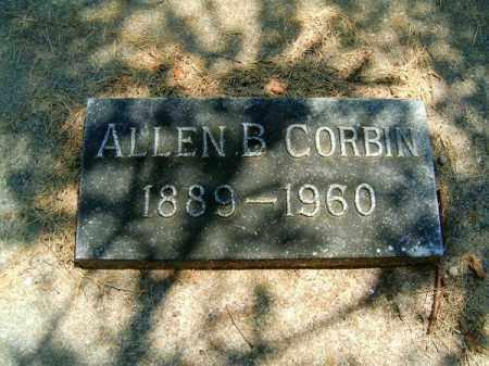 CORBIN, ALLEN  B - Clermont County, Ohio | ALLEN  B CORBIN - Ohio Gravestone Photos