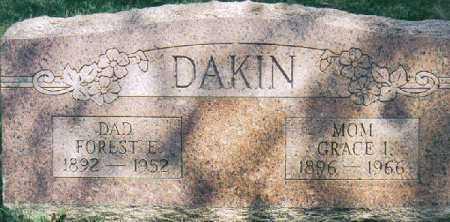 DAKIN, FOREST EMERSON - Clermont County, Ohio | FOREST EMERSON DAKIN - Ohio Gravestone Photos