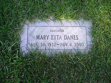 DANES, MARY ETTA - Clermont County, Ohio | MARY ETTA DANES - Ohio Gravestone Photos