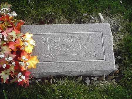 DAVIDSON, BENJAMIN H - Clermont County, Ohio   BENJAMIN H DAVIDSON - Ohio Gravestone Photos
