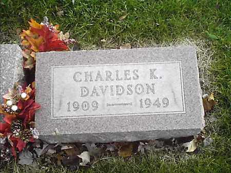 DAVIDSON, CHARLES K - Clermont County, Ohio   CHARLES K DAVIDSON - Ohio Gravestone Photos