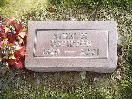 DAVIDSON, ETHEL  M - Clermont County, Ohio   ETHEL  M DAVIDSON - Ohio Gravestone Photos