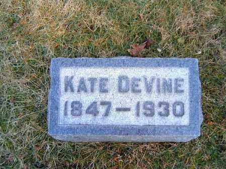 DEVINE, KATE - Clermont County, Ohio | KATE DEVINE - Ohio Gravestone Photos