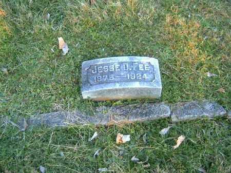 FEE, JESSE  D - Clermont County, Ohio | JESSE  D FEE - Ohio Gravestone Photos