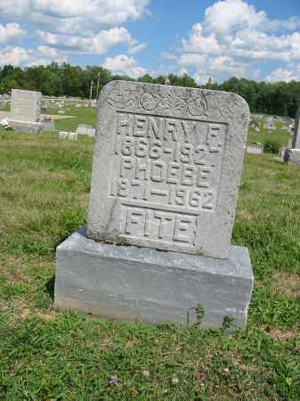 FITE, HENRY F - Clermont County, Ohio   HENRY F FITE - Ohio Gravestone Photos