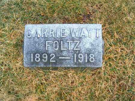 WAYT FOLTZ, CARRIE - Clermont County, Ohio | CARRIE WAYT FOLTZ - Ohio Gravestone Photos