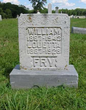 FRY, WILLIAM GRANVILLE - Clermont County, Ohio   WILLIAM GRANVILLE FRY - Ohio Gravestone Photos