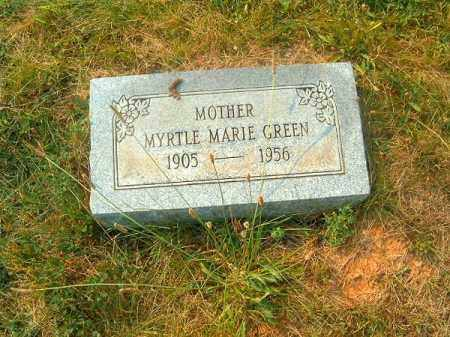 GREEN, MYRTLE MARIE - Clermont County, Ohio   MYRTLE MARIE GREEN - Ohio Gravestone Photos