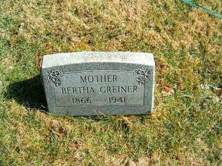 GREINER, BERTHA - Clermont County, Ohio | BERTHA GREINER - Ohio Gravestone Photos