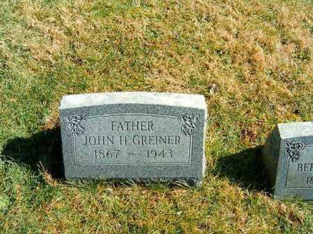 GREINER, JOHN   H - Clermont County, Ohio   JOHN   H GREINER - Ohio Gravestone Photos