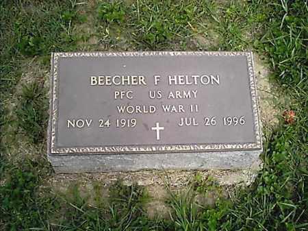 HELTON, BEECHER  F - Clermont County, Ohio   BEECHER  F HELTON - Ohio Gravestone Photos
