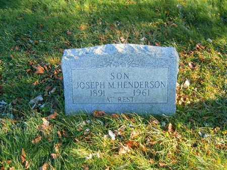HENDERSON, JOSEPH   M - Clermont County, Ohio | JOSEPH   M HENDERSON - Ohio Gravestone Photos