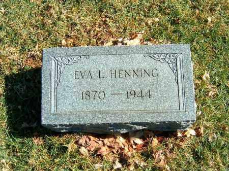HENNING, EVA   L - Clermont County, Ohio | EVA   L HENNING - Ohio Gravestone Photos