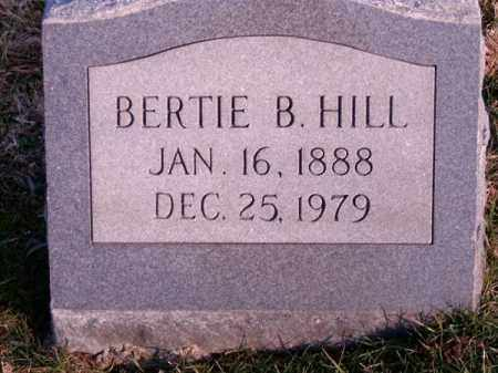HILL, BERTIE  B - Clermont County, Ohio   BERTIE  B HILL - Ohio Gravestone Photos
