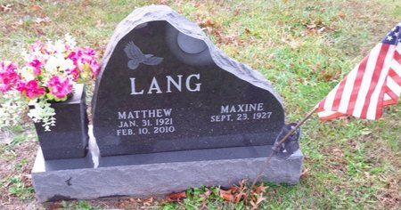 LANG, MATTHEW - Clermont County, Ohio | MATTHEW LANG - Ohio Gravestone Photos