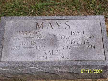 MAYS, WILLIAM HARMON - Clermont County, Ohio | WILLIAM HARMON MAYS - Ohio Gravestone Photos