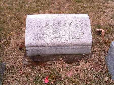MEFFORD, ANNA - Clermont County, Ohio   ANNA MEFFORD - Ohio Gravestone Photos