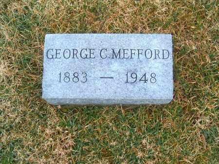 MEFFORD, GEORGE   C - Clermont County, Ohio   GEORGE   C MEFFORD - Ohio Gravestone Photos