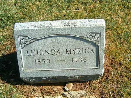 MYRICK, LUCINDA - Clermont County, Ohio | LUCINDA MYRICK - Ohio Gravestone Photos