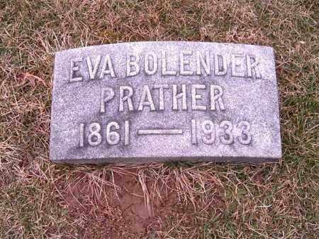 BOLENDER PRATHER, EVA - Clermont County, Ohio | EVA BOLENDER PRATHER - Ohio Gravestone Photos