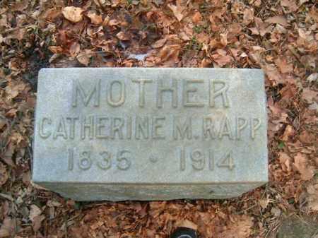 RAPP, CATHERINE   M - Clermont County, Ohio | CATHERINE   M RAPP - Ohio Gravestone Photos