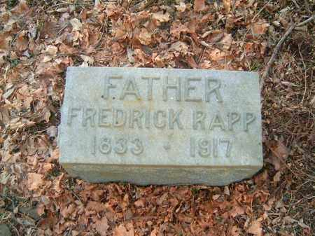 RAPP, FREDRICK - Clermont County, Ohio | FREDRICK RAPP - Ohio Gravestone Photos
