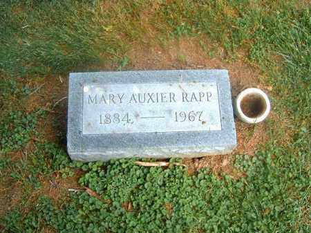 AUXIER RAPP, MARY - Clermont County, Ohio | MARY AUXIER RAPP - Ohio Gravestone Photos