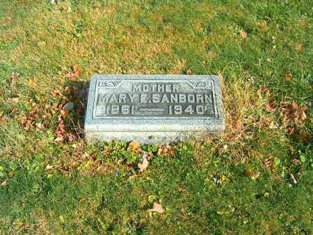 SANBORN, MARY  E - Clermont County, Ohio   MARY  E SANBORN - Ohio Gravestone Photos