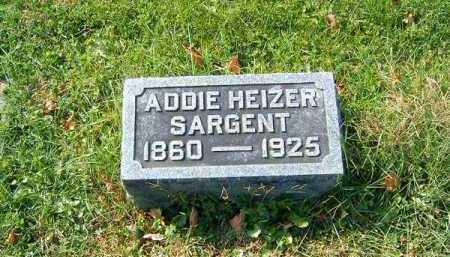 HEIZER SARGENT, ADDIE - Clermont County, Ohio | ADDIE HEIZER SARGENT - Ohio Gravestone Photos