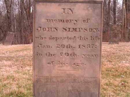 SIMPSON, JOHN - Clermont County, Ohio   JOHN SIMPSON - Ohio Gravestone Photos