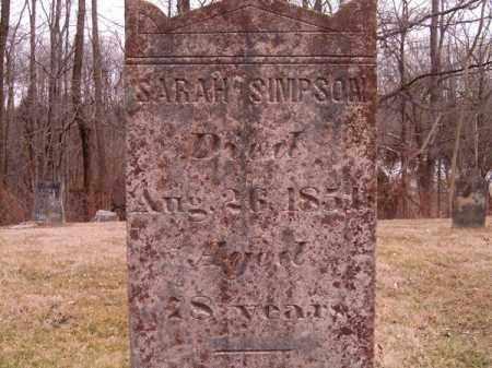 SIMPSON, SARAH - Clermont County, Ohio   SARAH SIMPSON - Ohio Gravestone Photos