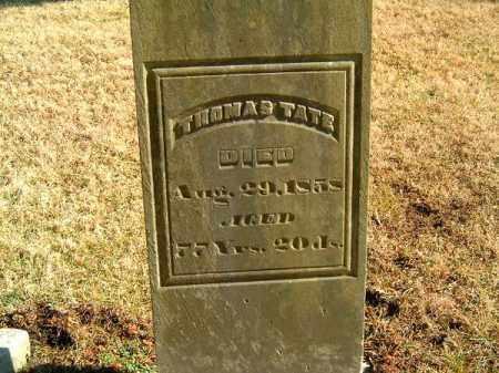 TATE, THOMAS - Clermont County, Ohio | THOMAS TATE - Ohio Gravestone Photos
