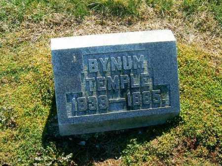 TEMPLE, BYNUM - Clermont County, Ohio | BYNUM TEMPLE - Ohio Gravestone Photos