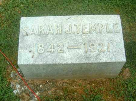 TEMPLE, SARAH  J - Clermont County, Ohio | SARAH  J TEMPLE - Ohio Gravestone Photos