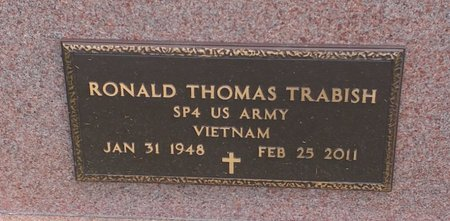 TRABISH, RONALD THOMAS - Clermont County, Ohio   RONALD THOMAS TRABISH - Ohio Gravestone Photos