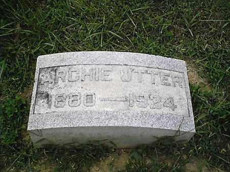 UTTER, ARCHIE - Clermont County, Ohio | ARCHIE UTTER - Ohio Gravestone Photos
