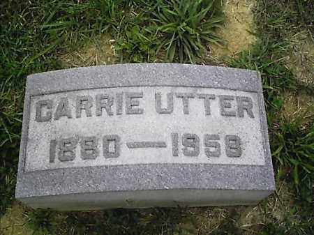 UTTER, CARRIE - Clermont County, Ohio | CARRIE UTTER - Ohio Gravestone Photos