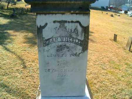 WHEELER, HIRAM - Clermont County, Ohio | HIRAM WHEELER - Ohio Gravestone Photos