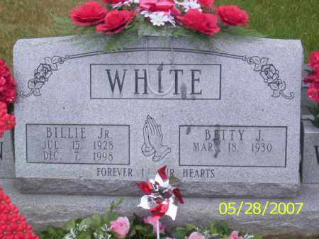 WHITE, BILLIE JR. - Clermont County, Ohio | BILLIE JR. WHITE - Ohio Gravestone Photos