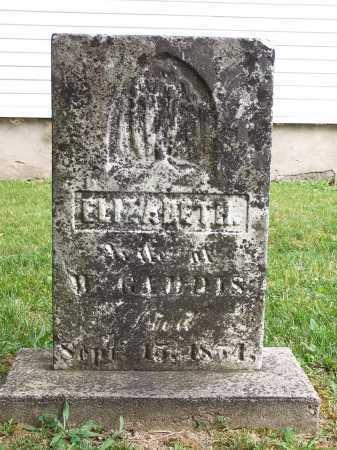PEAIRS GADDIS, ELIZABETH JANE - Clinton County, Ohio | ELIZABETH JANE PEAIRS GADDIS - Ohio Gravestone Photos