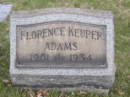 ADAMS, FLORENCE KEUPER - Columbiana County, Ohio | FLORENCE KEUPER ADAMS - Ohio Gravestone Photos