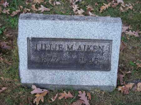 AIKEN, LILLIE M. - Columbiana County, Ohio   LILLIE M. AIKEN - Ohio Gravestone Photos
