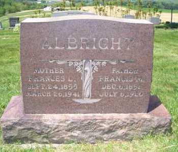 ALBRIGHT, FRANCIS - Columbiana County, Ohio | FRANCIS ALBRIGHT - Ohio Gravestone Photos