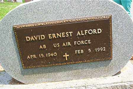 ALFORD, DAVID ERNEST - Columbiana County, Ohio | DAVID ERNEST ALFORD - Ohio Gravestone Photos