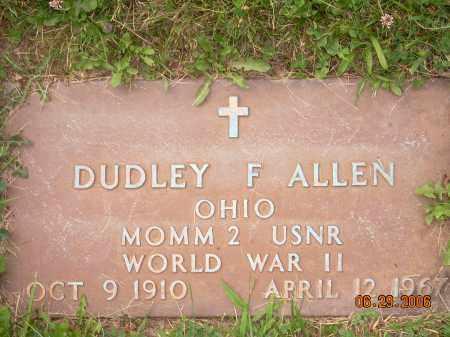 ALLEN, DUDLEY F - Columbiana County, Ohio | DUDLEY F ALLEN - Ohio Gravestone Photos